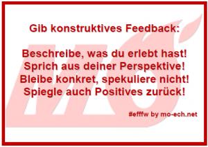 #efffw-Gib konstruktives Feedback