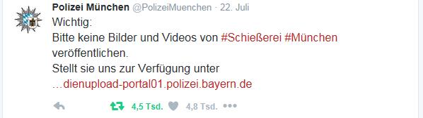 Polizei bitte darum, keine Bilder zu verbreiten